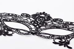 Piękna czerni koronki maska Zdjęcia Royalty Free