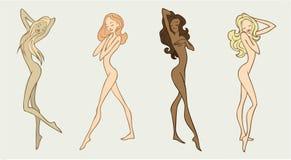 piękna cztery dziewczyny Fotografia Royalty Free