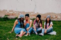 piękna cztery dziewczyny Obrazy Royalty Free