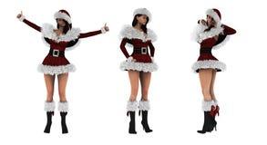Piękna 3D seksowna dziewczyna jest ubranym Santa Claus odziewa Fotografia Royalty Free