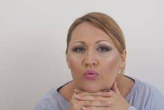 Piękna dama pozuje w studiu Fotografia Stock