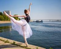 Piękna dancingowa balerina Obraz Stock