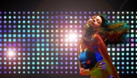 piękna dancingowa dziewczyna Zdjęcie Stock