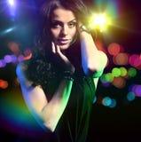 Piękna dancingowa dziewczyna Zdjęcia Stock