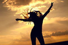 piękna dancingowa seksowna kobieta Fotografia Stock