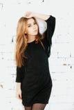 Piękna delikatna kobieta stylowy moda portret Zdjęcie Stock