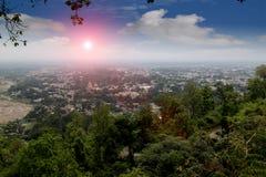 Piękna dolina w pasmie górskim Obrazy Royalty Free