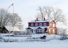 piękna domowa zima Zdjęcia Royalty Free