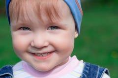 piękna dziecka blisko portret, Fotografia Stock