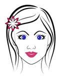 Piękna dziewczyna royalty ilustracja