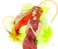 piękna dziewczyna ilustracja wektor