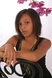 piękna dziewczyna biracial Zdjęcie Royalty Free