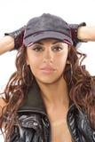 piękna dziewczyna czarny garnitur Obrazy Stock