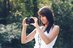 Piękna dziewczyna dostaje photo2 Zdjęcie Stock