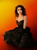 piękna dziewczyna dramatyczne portret Fotografia Royalty Free
