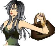 piękna dziewczyna modna ilustracja wektor