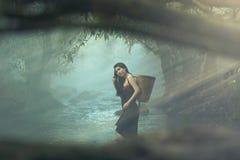 piękna dziewczyna na zatoczce Obraz Royalty Free