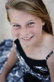 piękna dziewczyna, niebieskie oko Obrazy Royalty Free