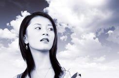 piękna dziewczyna Oriental Obrazy Stock