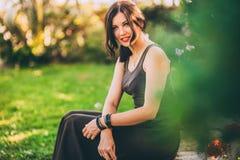 piękna dziewczyna park Zdjęcie Royalty Free