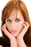 piękna dziewczyna portret ruda Zdjęcia Stock