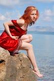 piękna dziewczyna rock Fotografia Stock