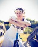 piękna dziewczyna rowerów Fotografia Stock