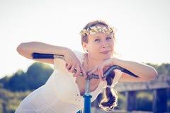 piękna dziewczyna rowerów Obraz Stock