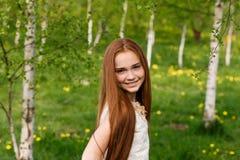 piękna dziewczyna ruda Obrazy Stock