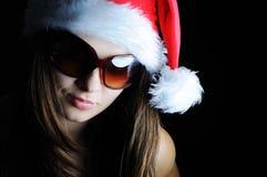 piękna dziewczyna Santa Obraz Stock