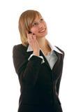 piękna dziewczyna telefon Zdjęcie Stock