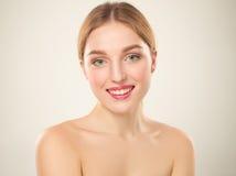 piękna dziewczyna twarzy idealna skóra Fotografia Stock