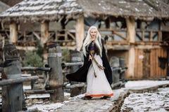 Piękna dziewczyna Viking Zdjęcie Royalty Free