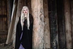 Piękna dziewczyna Viking Obraz Stock