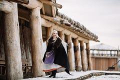 Piękna dziewczyna Viking Obrazy Stock