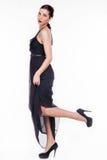 Piękna dziewczyna w czarnej sukni Zdjęcie Royalty Free