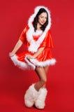 Piękna dziewczyna w krótkim nowego roku kostiumu zdjęcie royalty free