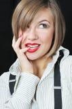 piękna dziewczyny zadumany portret Obraz Stock