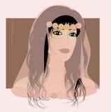 piękna, egzotyczna dziewczyna arabska Royalty Ilustracja