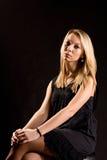 Piękna elegancka blondynki kobieta Fotografia Stock