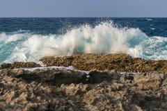 Piękna fala i morze Zdjęcie Stock