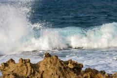 Piękna fala i morze Fotografia Stock