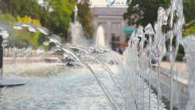 Piękna fontanna na ulicie zdjęcie wideo