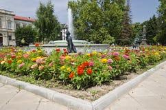 Piękna fontanna w centrum miasta Obrazy Royalty Free