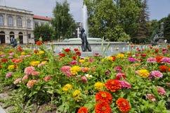 Piękna fontanna w centrum miasta Zdjęcia Royalty Free