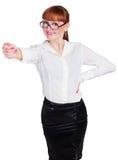 Piękna fotografia biznesowa dama w widowiskach Zdjęcia Stock