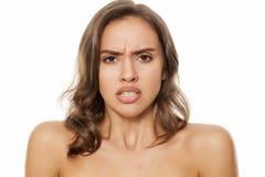 Piękna gniewna kobieta Fotografia Stock