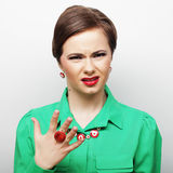 Piękna gniewna kobieta Obrazy Royalty Free