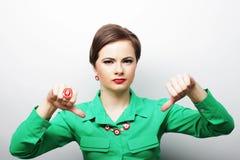 Piękna gniewna kobieta Obraz Stock