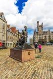 Piękna Gordon górali statua w Aberdeen w Szkocja, 13/08/2017 Fotografia Stock
